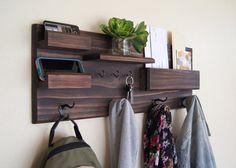 Coat and Key Hooks Entryway Organizer Mail Storage Sunglasses Storage Coat Rack Extra