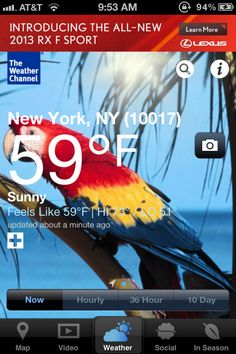 You'll Fall In Love With The Weather Channel's Gorgeous New iPhone App! The update features a major redesign that is easier to navigate and find the the information you want to see like the day's forecast, highs and lows, hourly forcast, a live radar, etc.  We especially love how easy it is to get to the hourly forecast.
