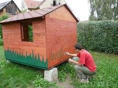 Zahradní domek pro dítě – 1. díl | Český Kutil.cz Pergola, Shed, Outdoor Structures, Outdoor Pergola, Barns, Sheds