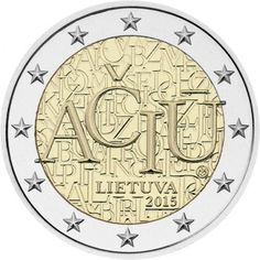 Detailed images and information about coin series Commemorative 2 euro coins. Visit the best collector and commemorative coin website: The Collector Coin Database. Piece Euro, Euro Coins, Valuable Coins, Coin Design, Commemorative Coins, World Coins, European History, In Writing, Coin Collecting