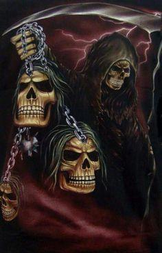Pin by Alane Pundt on Grim Reaper in 2019 Evil Skull Tattoo, Skull Tattoo Design, Skull Tattoos, Grim Reaper Art, Grim Reaper Tattoo, Grim Reaper Quotes, Death Reaper, Ghost Rider Wallpaper, Skull Wallpaper