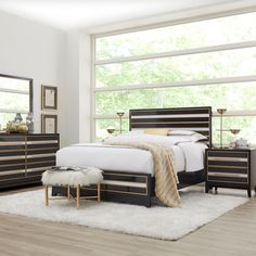Sofia Vergara French Riviera Black 5 Pc King Panel Bedroom - Rooms To Go Black Bedroom Sets, King Size Bedroom Sets, Sofia Vergara, Rooms To Go Furniture, Dream Furniture, Panel, Queen, Instagram, Master Room