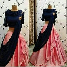 Book ur dress now Completely stitched outfits in all colours like ✔ comment✔ share✔ tags✔ For booking ur dress plz dm or whatsapp at Indian Gowns Dresses, Indian Fashion Dresses, Dress Indian Style, Indian Designer Outfits, Designer Dresses, Designer Clothing, Lehenga Choli Designs, Lengha Design, Indian Lehenga