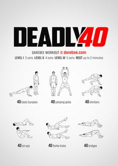 Deadly 40 Workout Darbee Workout, Calisthenics Workout, Boxing Workout, Workout Challenge, Hilt Workout, Dumbbell Workout, Running Workouts, Kickboxing, Kettlebell