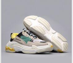 buy online bf354 e0a79 2018 New Release Balenciaga Triple S Grey Green Black Yellow. Air Jordan Basketball  ShoesSoccer CleatsJordan ShoesLebron 16Nike ...