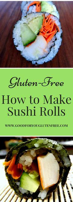 How to Make California Sushi Rolls - Good For You Gluten Free (Gluten Free Shrimp Recipes) Gluten Free Sushi, Best Gluten Free Recipes, Gluten Free Diet, Healthy Recipes, Lactose Free, Detox Recipes, Shrimp Recipes, Yummy Recipes, California Rolls