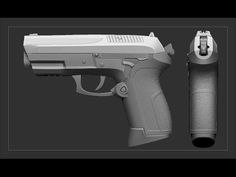 Zbrush Weapon request video - Pistol