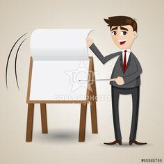 https://cz.dollarphotoclub.com/stock-photo/cartoon businessman flip paper on presentation board/65885766 Dollar Photo Club miliony kvalitních obrázků za 1$ za každý
