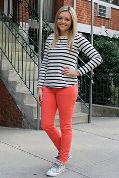 Gap colored jeans & a gap T
