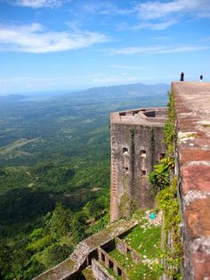From high atop the Citadelle Laferriere in northern Haiti, visitors can enjoy sweeping views of the Massif du Nord mountain range and, on clear days, the coastline of Cuba.