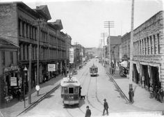 View of Cordova Street looking west from Carrall Street,1890