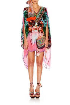 Camilla Awakened Utopia Short Sheer Kaftan @ Zambezee Boutique