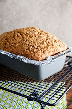 Pear Bread with Cardamom Crumble // @HealthyDelish