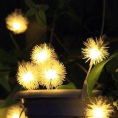 Solo €9.13 , negozio 4.8m solare caldo colorul bianco 20 LED patio giardino decorativo palla fuzz luci stringa fata su Banggood.com. Acquista la moda Luci da giardino online.