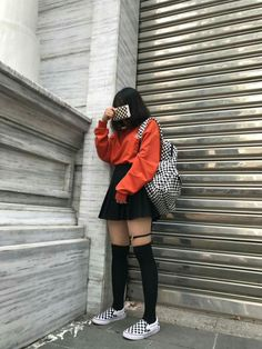 matching at its finest Egirl Fashion, Ulzzang Fashion, Grunge Fashion, Asian Fashion, Fashion Outfits, Kpop Outfits, Edgy Outfits, Korean Outfits, Girl Outfits