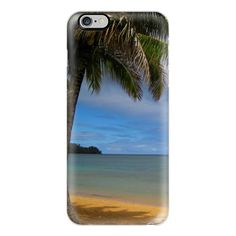 iPhone 7 Plus/7/6 Plus/6/5/5s/5c Case - Hawaii Beach (£32) ❤ liked on Polyvore featuring accessories, tech accessories, iphone case, slim iphone case, iphone cases, iphone cover case and apple iphone case