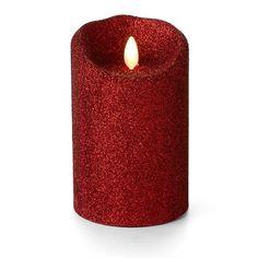 rustic pillars brown sandalwood scented 5 luminara flameless candles