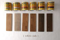 How 6 Different Stains Look On 5 Popular Types of Wood - Chris Loves Julia stain How 6 Different Stains Look On 5 Popular Types of Wood Best Wood Stain, Stain On Pine, Oak Stain, Paint Stain, How To Stain Wood, Staining Pine Wood, Staining Wood Floors, Oak Flooring, Refinish Hardwood Floors Diy