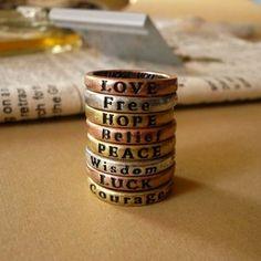 Amor   liberdade  esperança  crença  paz  coragem  sorte  sabedoria!!