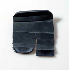 Christine Matthias at Galerie Marzee Gallery.  brooch, 2009 patinated silver -  60x74x6mm