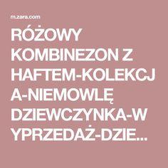 RÓŻOWY KOMBINEZON Z HAFTEM-KOLEKCJA-NIEMOWLĘ DZIEWCZYNKA-WYPRZEDAŻ-DZIECI | ZARA Polska