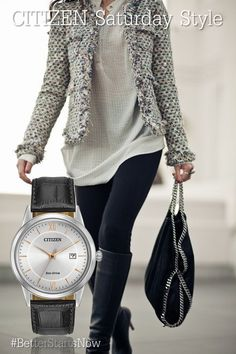 The perfect unisex watch to match every style this Fall! This is the MEN'S STRAPS (MODEL: AW1236-03A) $165