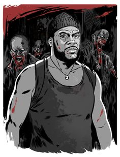 Tyreese (Chad Coleman) from The Walking Dead  by Tin Salamunic