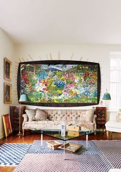 Janet Ruttenberg's living room, photographed for New York Magazine by Thomas Loof