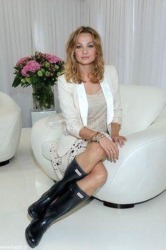Malgorzata Socha wearing her Wellingtons 2 – Relaxing