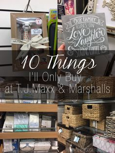 10 Things I'll Only Buy at T.J.Maxx and Marshalls