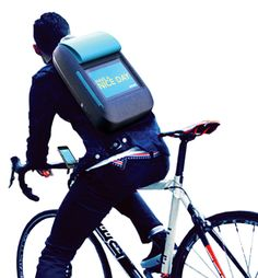 iBackpack – Backpack Design With iPad by Soohun Jung. A smart concept. If you brake or turn it can also display messages.