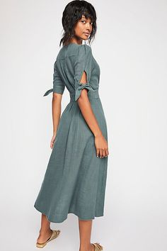 Free People Love Of My Life Midi Dress - Raspberry Walnut Xs Dressy Dresses, Modest Dresses, Summer Dresses, Casual Outfits, Cute Outfits, Fashion Outfits, Womens Fashion, Fasion, Diy Clothes