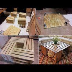 Hermosa mesa con cajones..fácil de hacer!