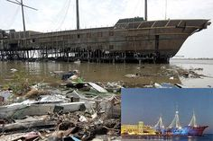 Treasure Bay Casino, before and after Hurricane Katrina Hurricane Storm, Hurricane Katrina, Katrina Photo, Hurricane Camille, Hurricanes And Tornadoes, Natural Disasters, Oh The Places You'll Go, Abandoned Places, Mother Nature