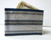 Web Wallet Navy Stripe