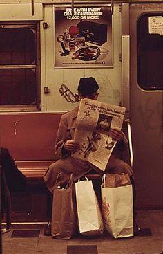 New York subway car 1970's