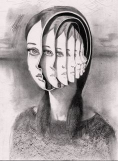 Miles Johnston works primarily in pencil drawing. His surreal art explores psychological transformation in portraits and figurative images. Funny Drawings, Pencil Drawings, Art Drawings, Pencil Art, Art Bizarre, Weird Art, Miles Johnston, Surreal Artwork, Surreal Portraits