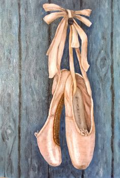 paintings of ballet toe shoes Pointe Shoes, Ballet Shoes, Toe Shoes, Ballerina Painting, Painting Shoes, Rock Painting, Shoe Tattoos, Creative Instagram Photo Ideas, Ballet Art