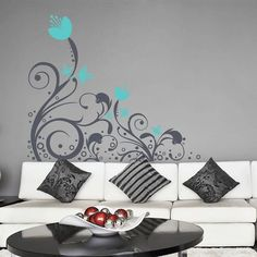 Floral Abstract Banner Wall Sticker - Home is a peaceful environment and a lot of people favor peaceful sylvan and artistic blossoming floral patterns to be stretched across the walls to give a sense of natural charm and look. These wall stickers & decals are just perfect for such needs. http://walliv.com/floral-abstract-banner-2-wall-sticker-wall-art-decal