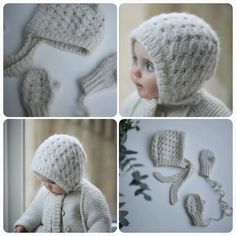 Knitting pattern for Snowflake set (norwegian and english )