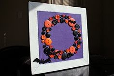 Halloween button wreath, cute craft to do with the girls.