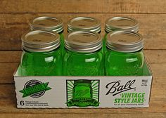The green Ball Heritage Jar has arrived at save-on-crafts.com #masonjars