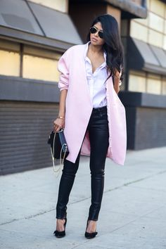 Gorgeous pink and coated skinnies!