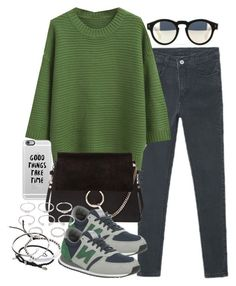 """""""Untitled #3303"""" by hellomissapple on Polyvore featuring Illesteva, Casetify, Chloé, New Balance, Forever 21, David Yurman, Michael Kors, Cartier and bhalo"""