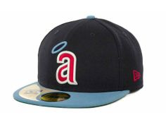 Los Angeles Angels of Anaheim New Era MLB Cooperstown Patch 59FIFTY Cap Hats