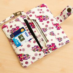Emmy - IPHONE WALLET ELEPHANT Purse iPhone Pouch iPhone by FunnySweetie, $25.00