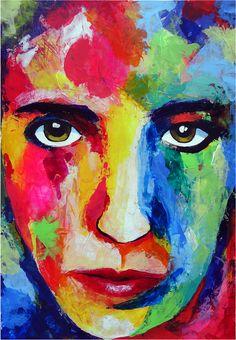 """Echa un vistazo a mi proyecto @Behance: """"Self-portrait in acrylic paint"""" https://www.behance.net/gallery/62058515/Self-portrait-in-acrylic-paint"""