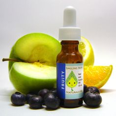 Fruity All Natural Nail & Cuticle Oil, made with Organic Jojoba Oil and Essential Oils, Vegan, Berries, Apples, Citrus