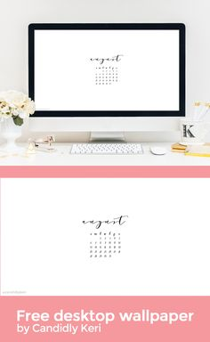 Black And White Script Modern Simple August Calendar 2017 Wallpaper You Can  Download For Free On