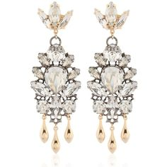 Anton Heunis Women Swarovski Crystals Barbarella Earrings (1,935 GTQ) ❤ liked on Polyvore featuring jewelry, earrings, gold, anton heunis, anton heunis earrings, swarovski crystal jewellery, swarovski crystals jewelry and earrings jewelry
